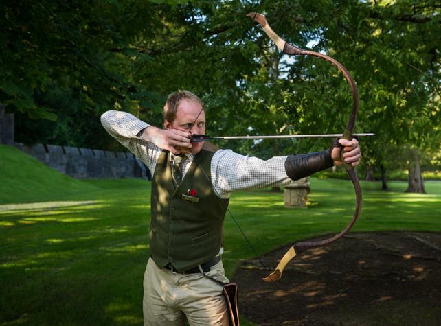 Thomas teaching archery