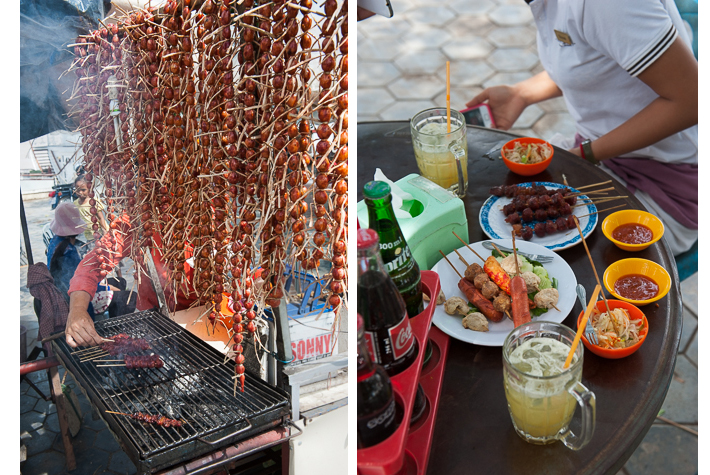street food at Wat Nokor