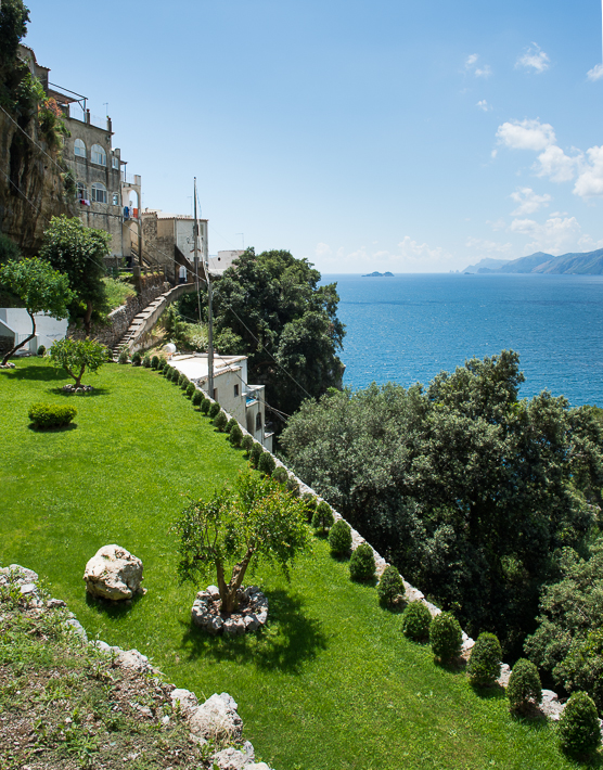 Casa Angelina garden and Gulf of Salerno