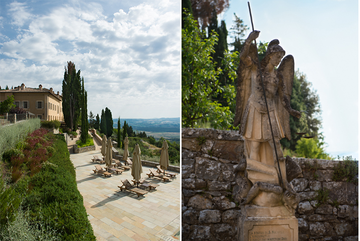 The Borgo and statue of San Michele.