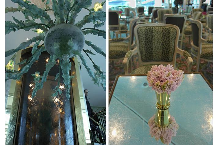 chandelier; leopard print
