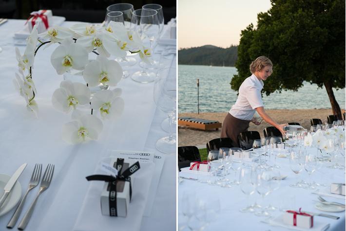 table setting dinner Qualia