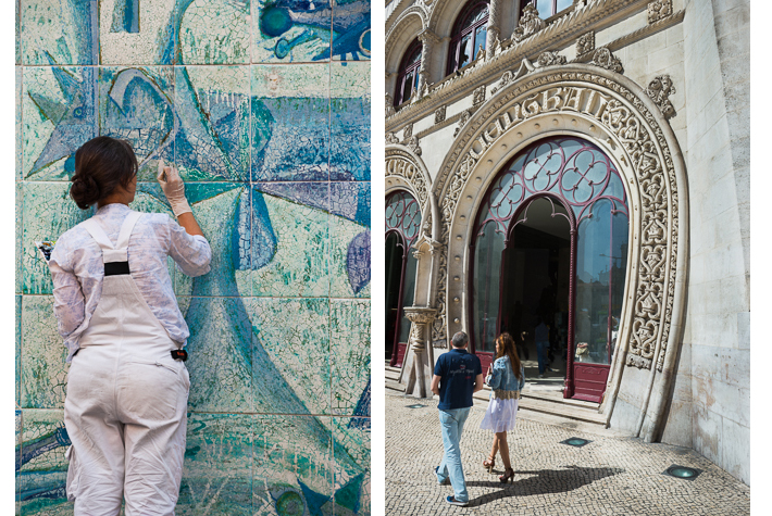 Restoring ceramics, Rossio train station