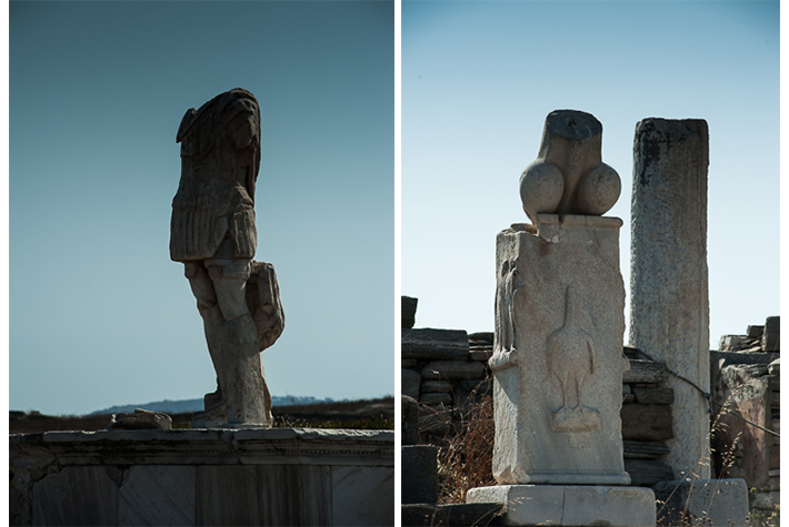 Antiquities, Delos, Greece