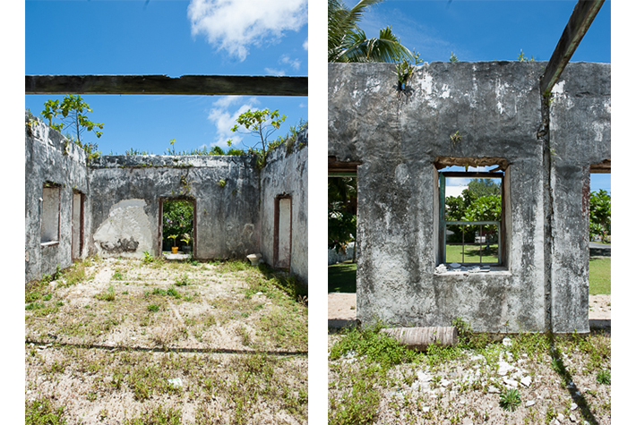 Walls of old house, Rarotonga, Cook islands