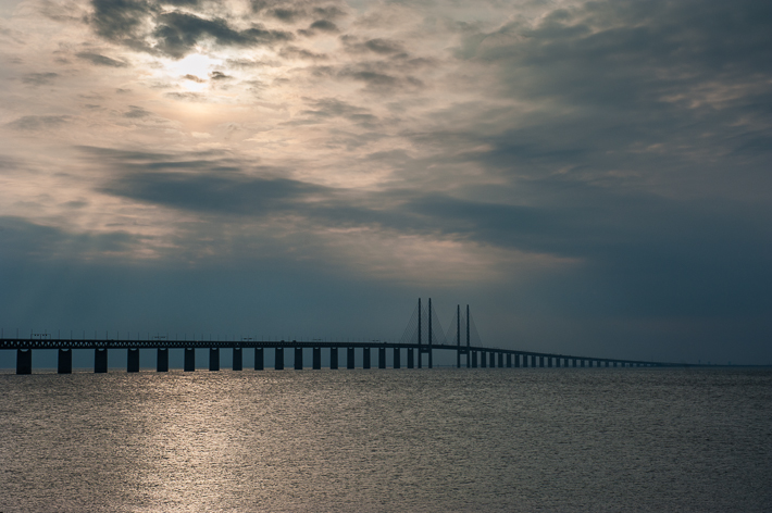 the bridge, from the Malmo side
