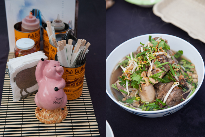 The Pig  & The Lady Noodle Bar at the farmers market