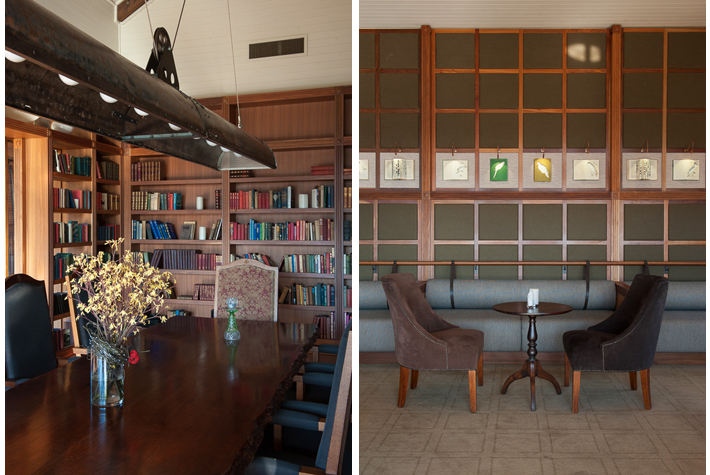library, Valley bar with art by Lizzie Buckmaster Dove