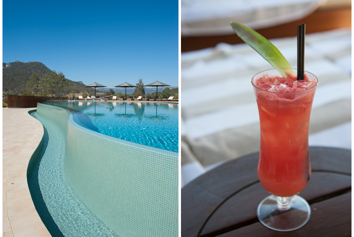 mocktail by the pool