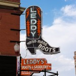 Leddy's Store Fort Worth,  sign