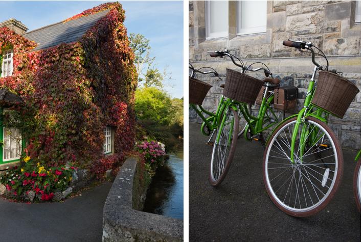 By the bridge at Cong; bicycles at Ashford