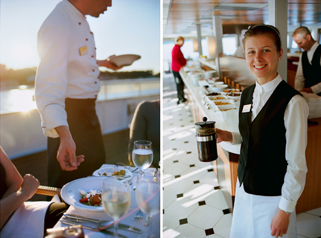 dining on the River Princess