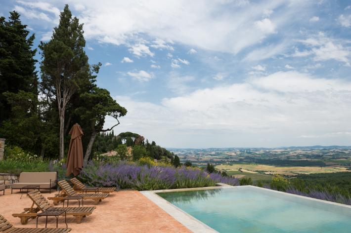 Private pool at a villa.