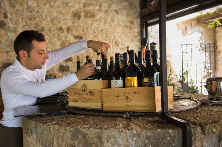 Wines at Osteria La Canonica