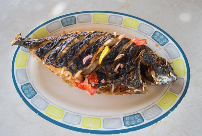 blackened fish, Mirbat