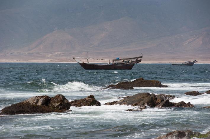 dhows off Mirbat