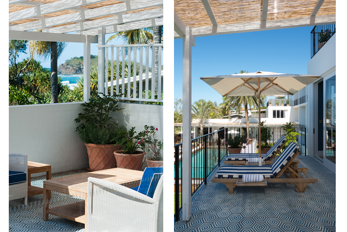 balconies from suites