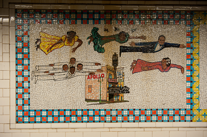 125th St subway at Malcolm X Blvd