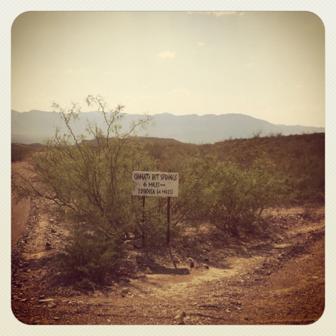 Pinto Canyon rd RM 2810, turn off for Chinati Hot Springs
