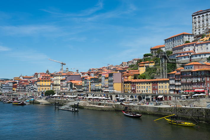 Bars and restaurants on the Douro.
