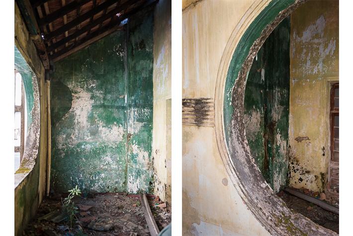 Interior of deserted house, Galle Fort, Sri Lanka