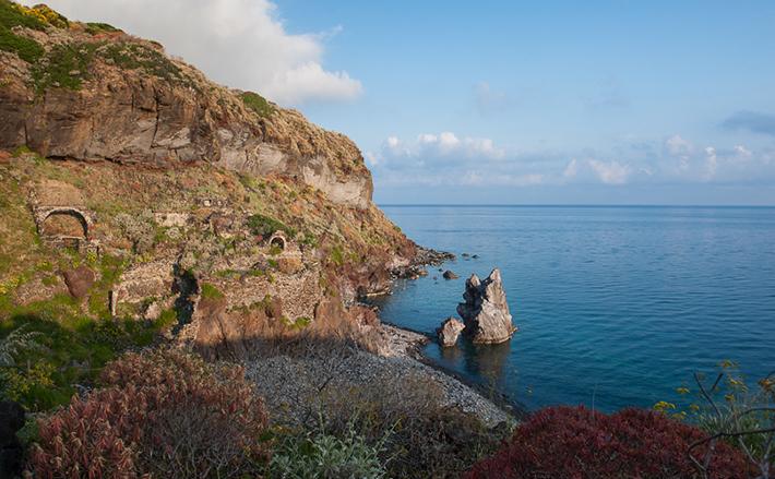 Ancient foundations, Malfa, Salina, Aeolian Islands.