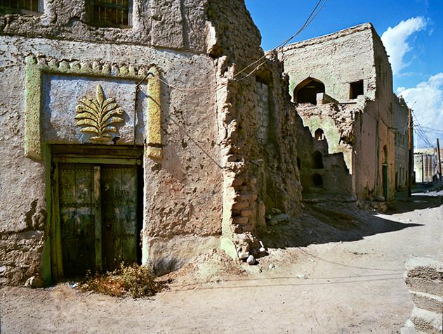 Houses around Nizwa fort, Oman