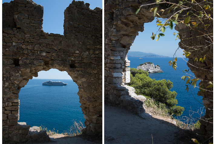 Fortress wall, Parga, Greece