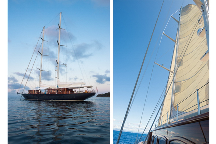Satori at rest and under sail.