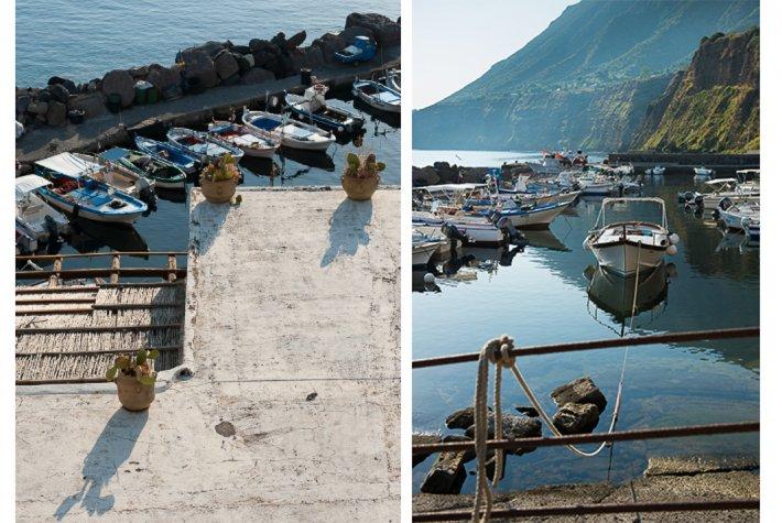 Fishing port at Malfa.