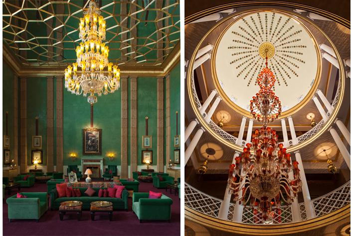 Jade Room, Murano chandelier