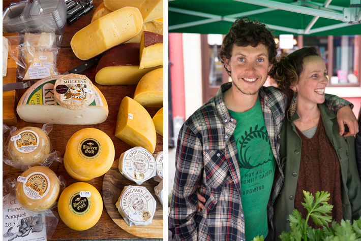 Burren cheeses, Mr and Mrs Fergal Smith at their produce stall in Ennistymon